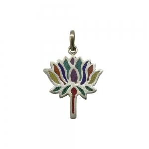 PENDANT - Brass Lotus Flower