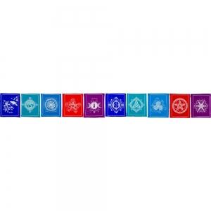 PRAYER FLAG - Pagan Cotton 10 Flaps 213cm