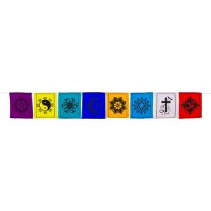 PRAYER FLAG - Multi Faith Cotton 8 Flaps 172cm