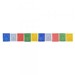 PRAYER FLAGS - Meditation Buddha 10 FLAGS 230cm long (Pack of 5)