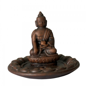 Medicine Buddha Clay Incense Burner