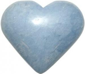 Angelite Puffed Heart 50mm