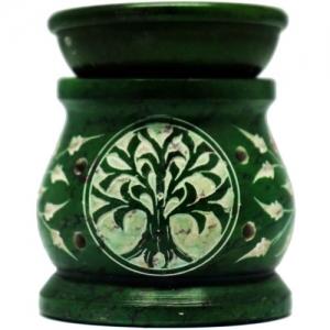 "2.5"" Tree of Life Green Oil burner"