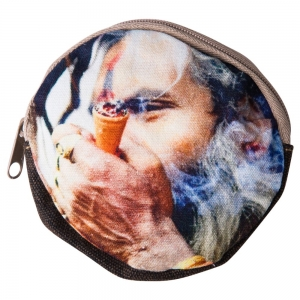 COIN POUCH ROUND -Smoking Shaman
