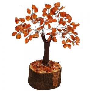 CRYSTAL TREE - Carnelian 100 bead 15cm