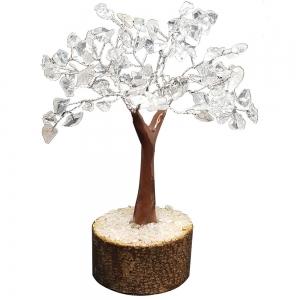 CRYSTAL TREE - Clear Quartz 100 bead 15cm