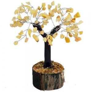 CRYSTAL TREE - Golden Quartz 100 bead 15cm