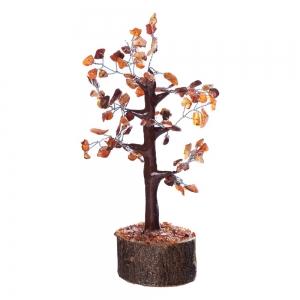 CRYSTAL TREE - Carnelian 100 bead 18cm