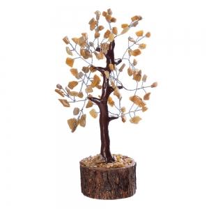 CRYSTAL TREE - Golden Quartz 100 bead 18cm