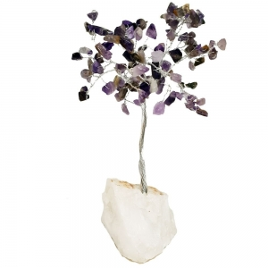 15cm Amethyst Tree with Crystal Base