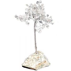 15cm Clear Quartz Tree with Crystal Base