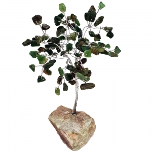 15cm Green Aventiurine Tree with Crystal Base