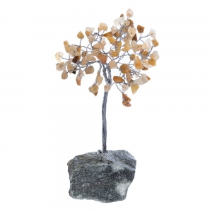 15cm Golden Quartz Tree with Crystal Base