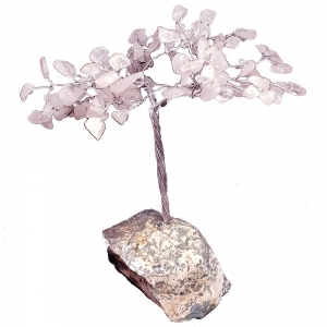15cm Rose Quartz Tree with Crystal Base
