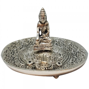ALUMINIUM INCENSE BURNER - Buddha 5cm x 12cm