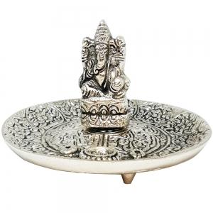 ALUMINIUM INCENSE BURNER - Buddha 6cm