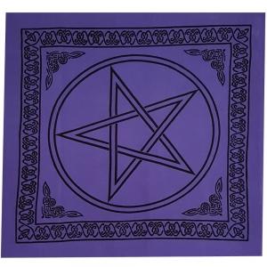 ALTAR CLOTH - Pentacle Purple Cotton 100x100cm