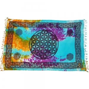ALTAR CLOTH - Flower of Life Tie Dye Cotton 105x170cm