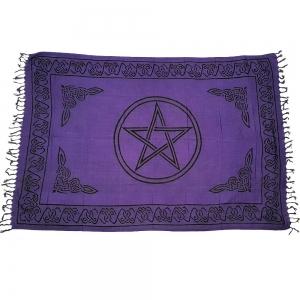 ALTAR CLOTH - Pentacle Purple Cotton 105x170cm