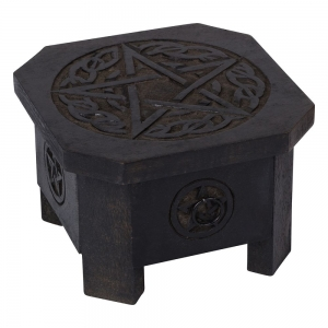 Celtic Pentacle Altar Table - 19*19*12 cm