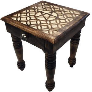 ALTAR TABLE - Pentacle Black Gold 38x38x38cm