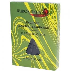 Auroshikha Cones - Lemongrass 14 Cones