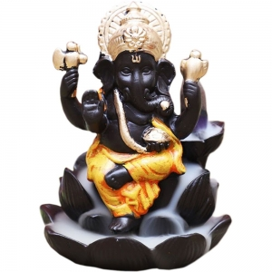 Ganesh Lotus Backflow Incense Burner 11x9.6cm