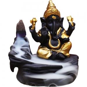 Ganesh Painted Backflow Incense Burner 9.5x8.5cm