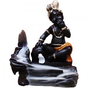 Krishna Orange Backflow Incense Burner 11x9cm