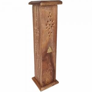 BOX INCENSE TOWER - Buddha Inlay 30cm
