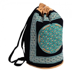 Flower of Life Cotton Backpack