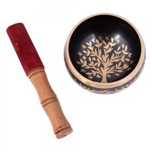 SINGING BOWL - Tree of Life Brass Black 10.5cm