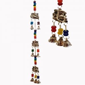 3 Ganesh Brass Chakra String Bell 50cm
