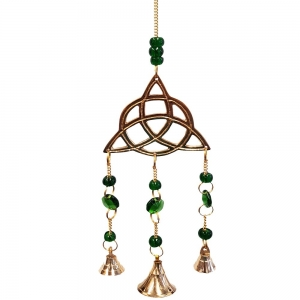 30cm Triquetra Brass Bell Chime