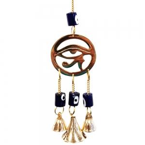 25cm Eye of Horus Brass Bell Chime