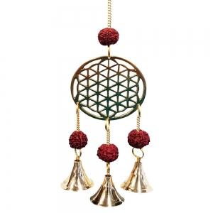 27cm Flower of Life Brass Bell Chime