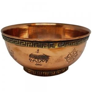 11cm Auspicious Symbol Copper Bowl