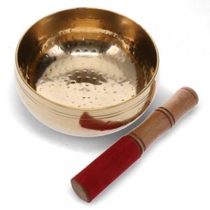 16cm Hammered Brass Bowl