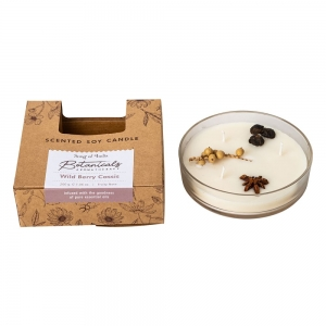 BOTANICALS SOY CANDLE - 3 Wicks Wild Berry Cassis 200gms