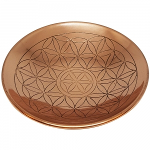 COPPER PLATE - Flower of Life Grid