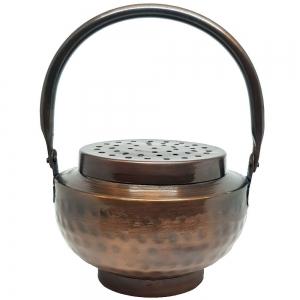 BRASS INCENSE BURNER - Copper Finish with Handle 9cm x 12cm