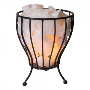 Crystal Cage Lamp Clear Quartz