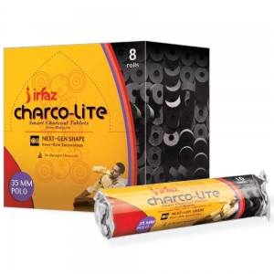 Charcoal - IRFAZ Charco-Lite Polo 35mm Quick Lite (80 Tablets)