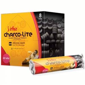 Charcoal - IRFAZ Charco-Lite 40mm Quick Lite (80 Tablets)