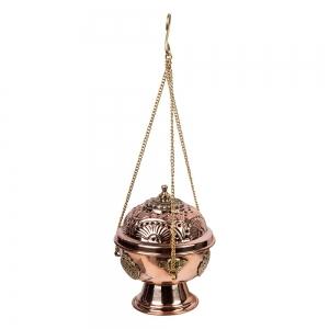 Copper Hanging Incense Burner 10cm x 12.5cm