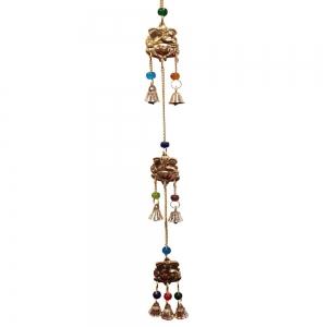 3 Ganesh Brass Hanging 5cm x 55cm