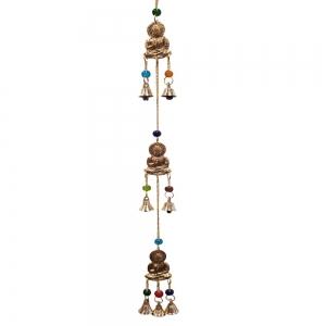 3 Buddha Brass Hanging 5cm x 55cm