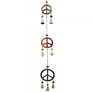 3 Peace Brass Hanging 5cm x 55cm