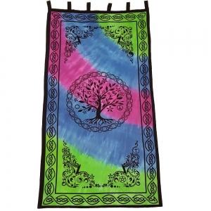 CURTAIN - Tree of Life Tie Dye 111cm x 222cm