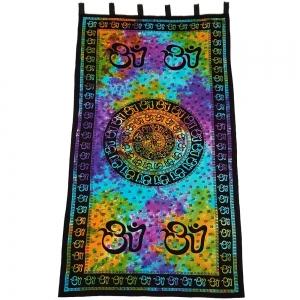 CURTAIN - Om Chakra Tie Dye 111cm x 222cm